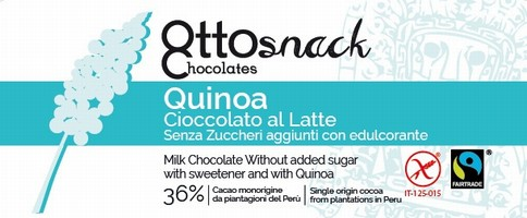 Ottosnack Milk Sugar Free Chocolate with Quinoa chocolate 100 g