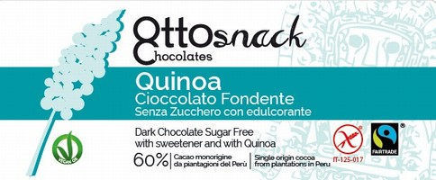 Ottosnack Dark Sugar Free Chocolate with Quinoa chocolate 100 g