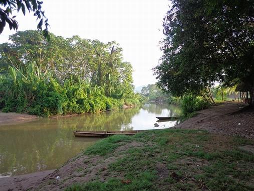 Rio Huachaga con barche
